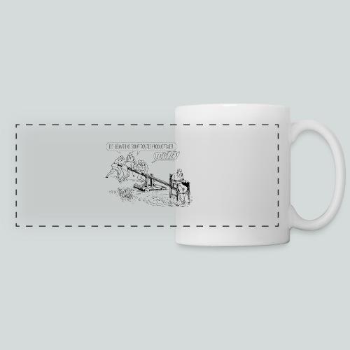 Les réunions sont productives! - Mug panoramique contrasté et blanc