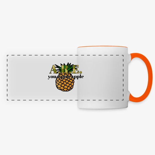 Are you a pineapple - Panoramic Mug