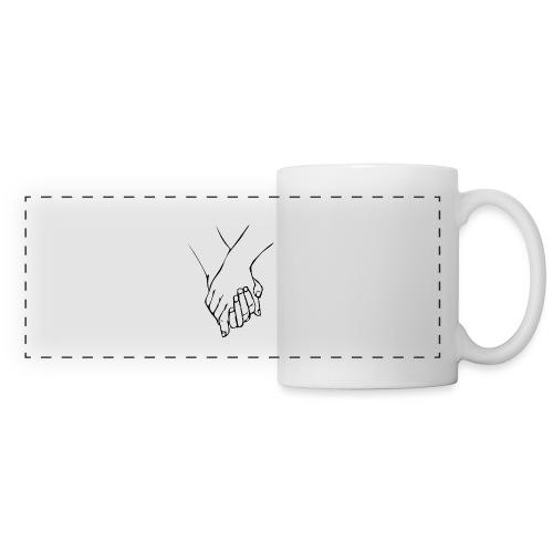 Two Hands - Mug panoramique contrasté et blanc