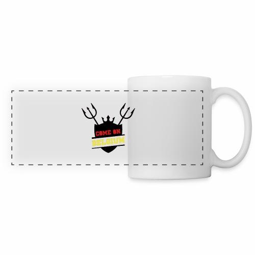 Come On Belgium - Mug panoramique contrasté et blanc