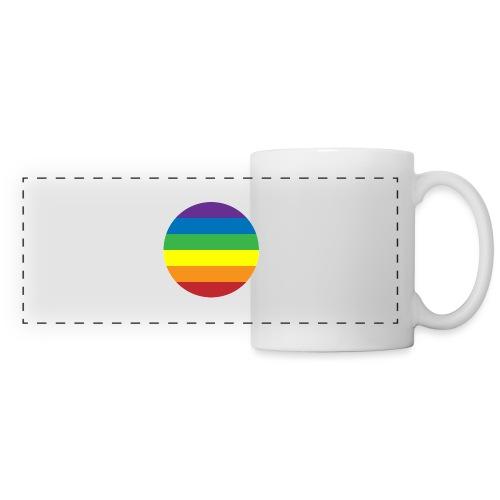 LGBT Badge - Mug panoramique contrasté et blanc