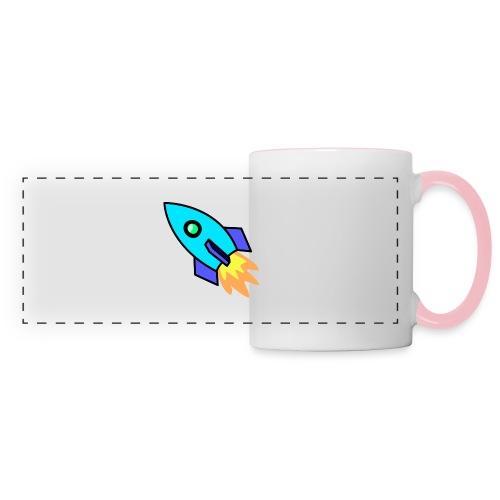 Blue rocket - Panoramic Mug