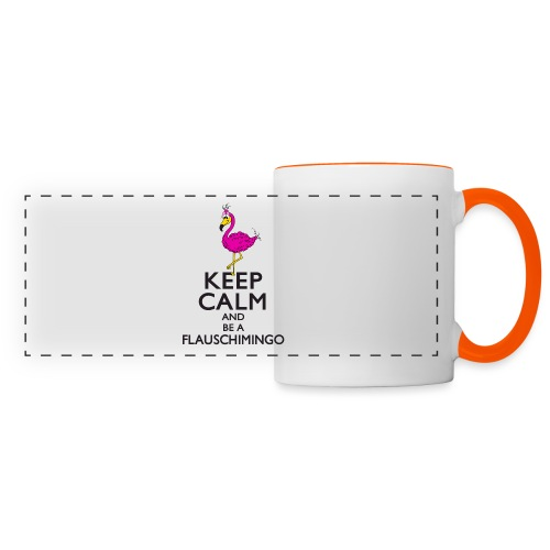 Keep calm and be a Flauschimingo - Panoramatasse