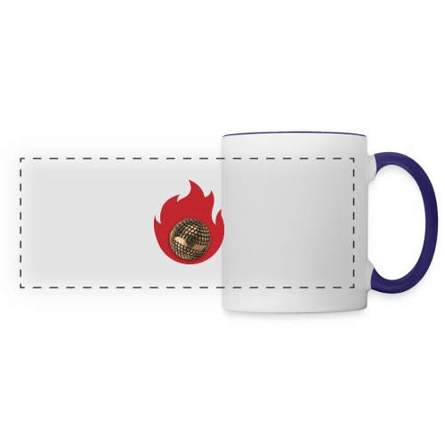 petanque fire - Mug panoramique contrasté et blanc