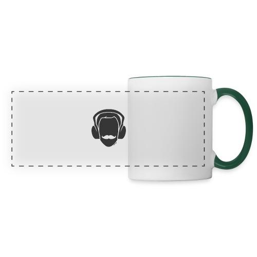 Moustachu Song (H) - Mug panoramique contrasté et blanc