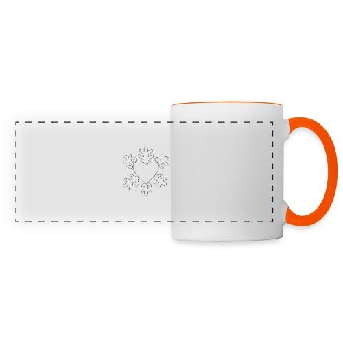 Flocon coeur 3D - Mug panoramique contrasté et blanc