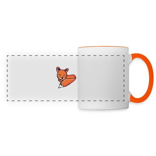 Edo le renard - Mug panoramique contrasté et blanc