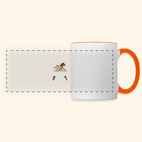 Mein Shetty das Schönste (Text weiss) - Mug panoramique contrasté et blanc