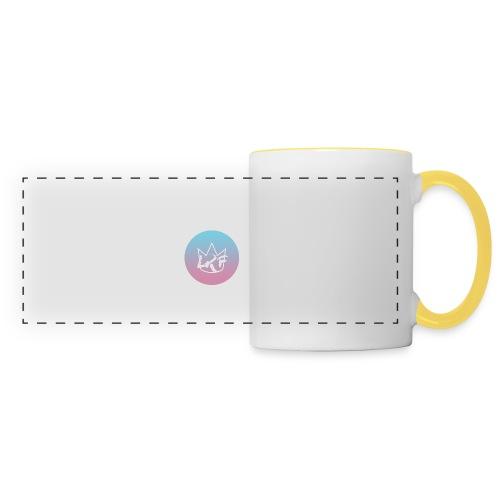 logo lrf rondcasquette - Mug panoramique contrasté et blanc