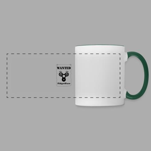 Fidget Spinner Face Wanted - Panoramic Mug