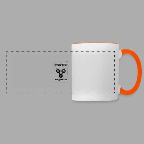 Fidget Spinner Face Wanted - Panoramic Mug