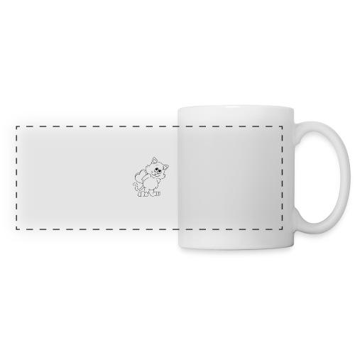 La Le Petit filon chat - Mug panoramique contrasté et blanc