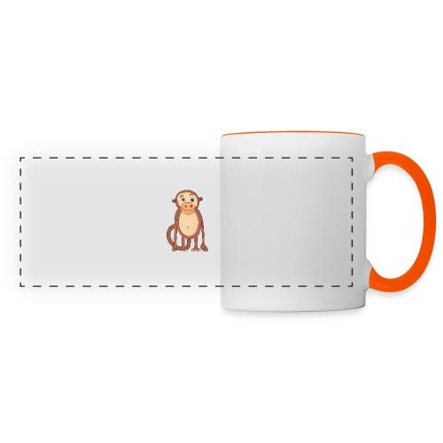 Bobo le singe - Mug panoramique contrasté et blanc