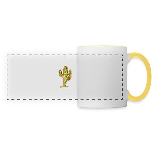 Le cactus - Mug panoramique contrasté et blanc