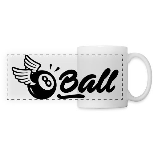 8ball-horizontal-noir - Mug panoramique contrasté et blanc