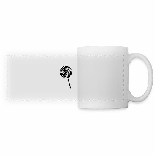 Retro Lutscher - Lollipop Design - Schwarz Weiß - Panoramatasse