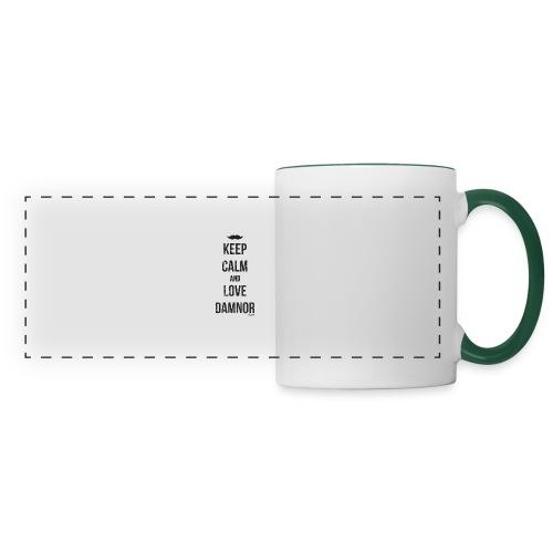Keep calm and ... (F) - Mug panoramique contrasté et blanc