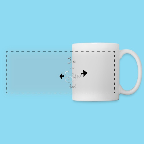 Je les ship fort - Mug panoramique contrasté et blanc
