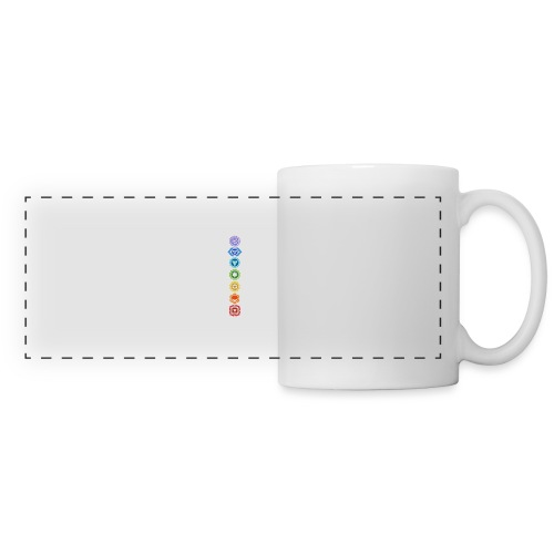 The 7 Chakras, Energy Centres Of The Body - Panoramic Mug