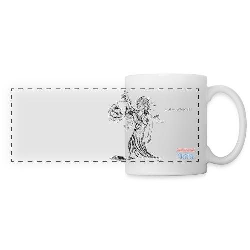 Justice sous stéroïdes - Mug panoramique contrasté et blanc