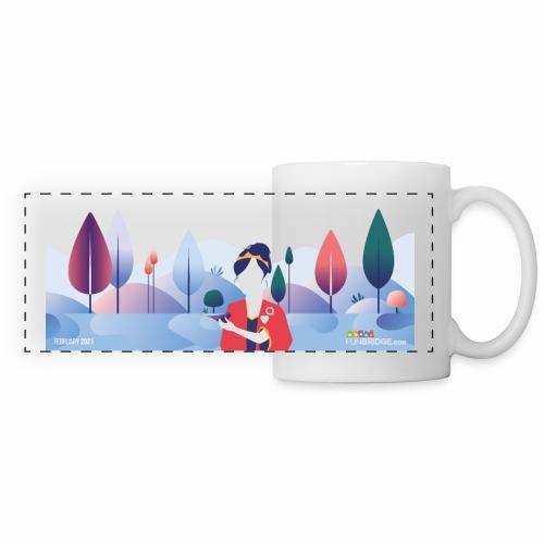 February Funbridge Collector's Mug - Mug panoramique contrasté et blanc