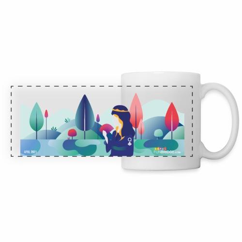 April Funbridge Collector's Mug - Mug panoramique contrasté et blanc