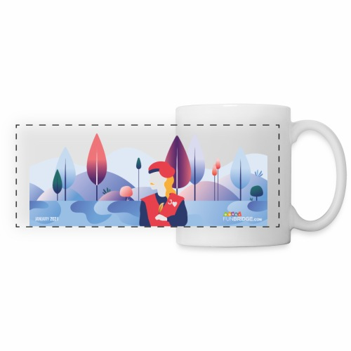 January Funbridge Collector's Mug - Mug panoramique contrasté et blanc