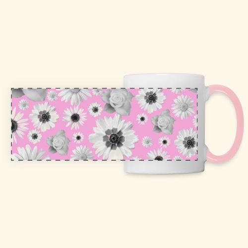 Blumen, Blume, Blüten, floral, Blumenranke, pink - Panoramatasse
