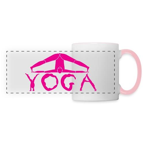 yoga yogi viola spiritualità amore namaste sport - Tazza panoramica