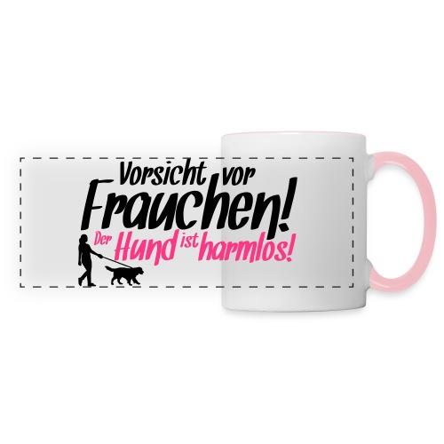 Vorsicht vor Frauchen! /Hunde Design Geschenkidee! - Panoramatasse