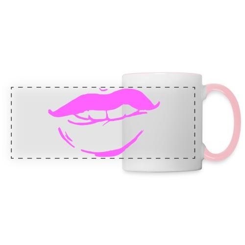 Bouche rose - Mug panoramique contrasté et blanc