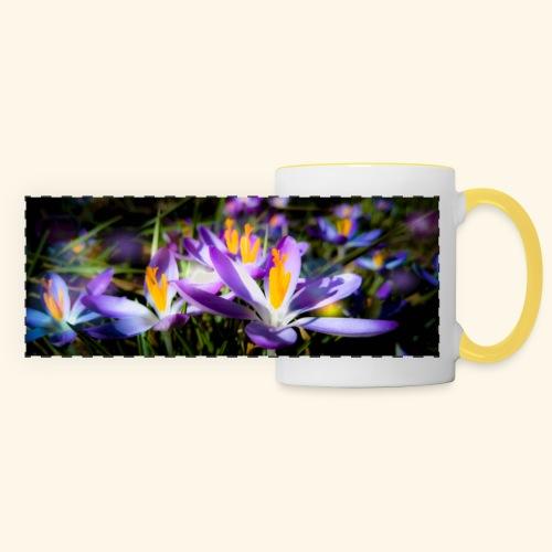 Blumenwiese, lila blühende Blumen, Blüten, floral - Panoramatasse