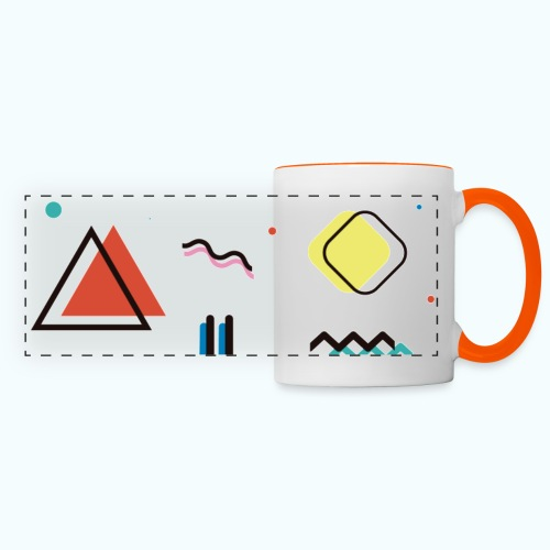 Abstract geometry - Panoramic Mug