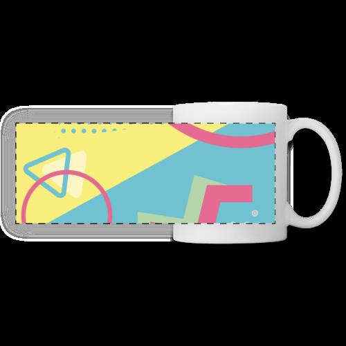 Pastel turquoise geometry - Panoramic Mug