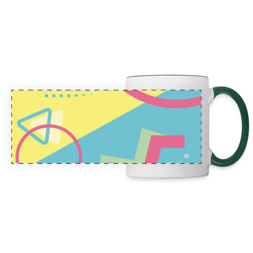 Pastel turquoise geometry - Panoramic Mug