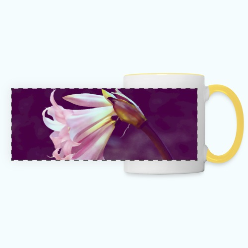 Flower At Night Watercolor Minimalism - Panoramic Mug
