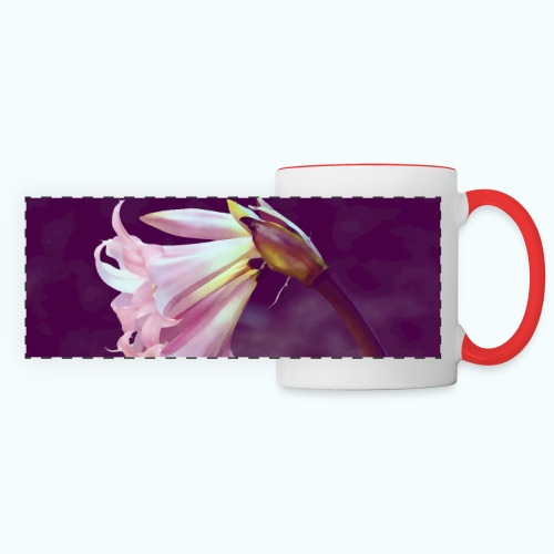 Flower At Night Watercolor Minimalism - Panoramic Mug