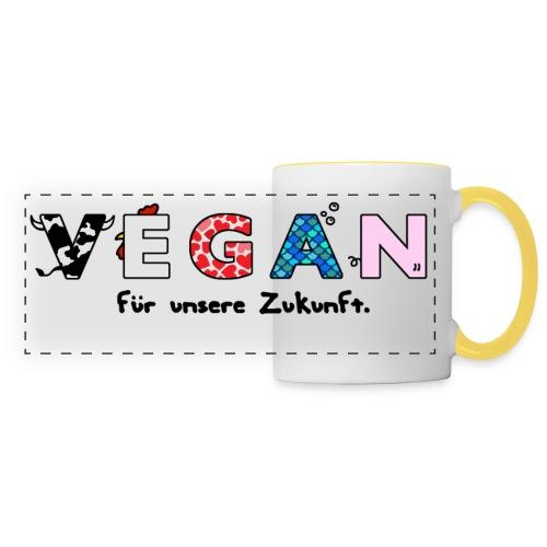 vegan final png - Panoramic Mug