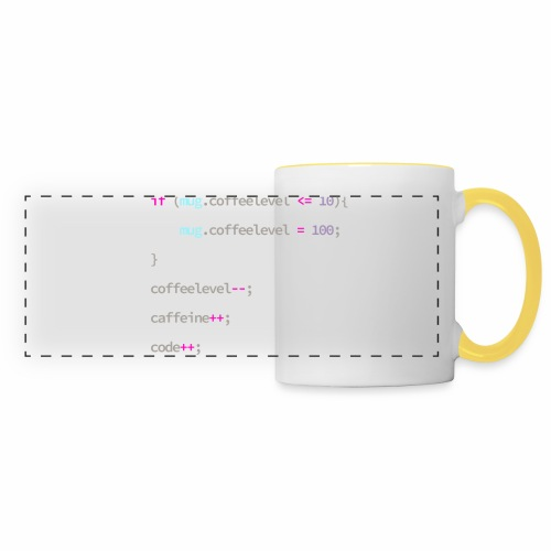Coffee to Code - Programmer's Mug - Panoramic Mug