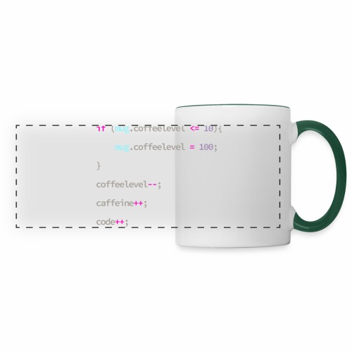 Coffee to Code - Programmer's Mug - Panoramic Mug
