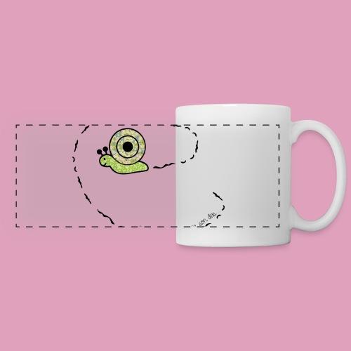 Petit escargot porte sur son dos... (Tasse) - Mug panoramique contrasté et blanc