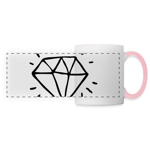 diamant - Mug panoramique contrasté et blanc