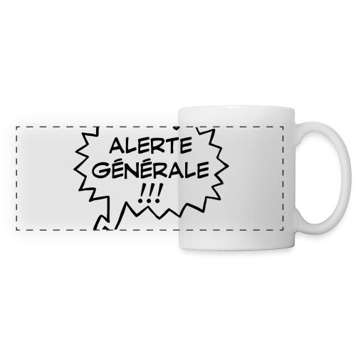 Alerte générale ! - Mug panoramique contrasté et blanc