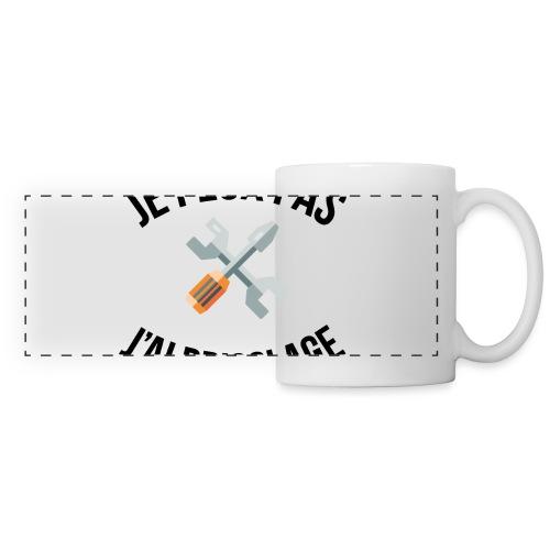 JE PEUX PAS - J'AI BRICOLAGE - Mug panoramique contrasté et blanc