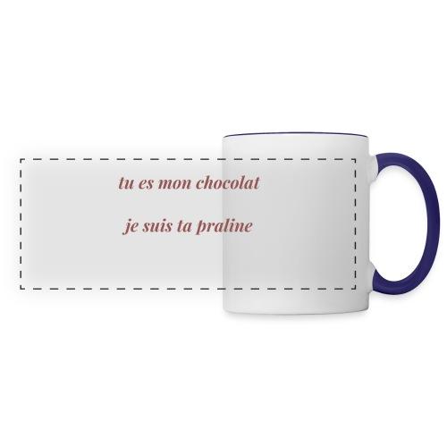 Tu es mon chocolat - Mug panoramique contrasté et blanc
