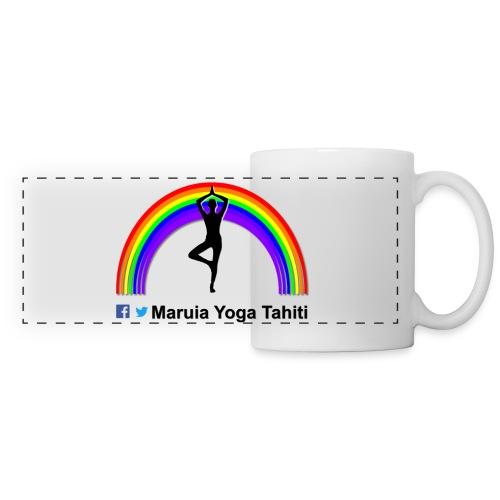 Logo de Maruia Yoga Tahiti - Mug panoramique contrasté et blanc