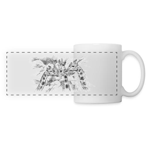 les girafes bavardes - Mug panoramique contrasté et blanc