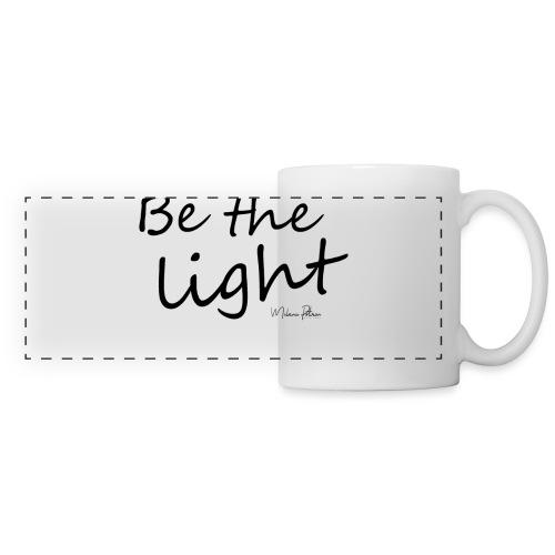 Be the light - Mug panoramique contrasté et blanc
