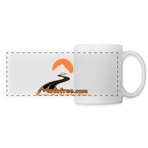 logo motofree orange - Mug panoramique contrasté et blanc