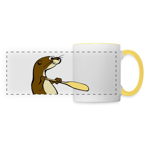 Classic Song of the Paddle otter logo - Panoramic Mug